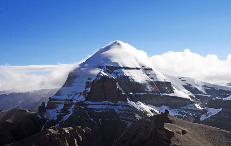 Pyramid-like image of Mount Kailash