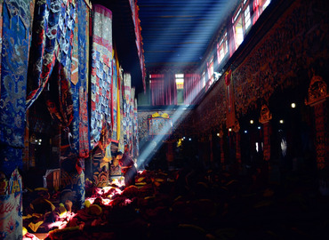 The worship hall of Sera Monastery