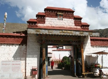 Entrance gate of Drolma Lhakhang Monastery