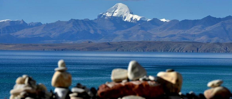 Lake Manasarovar and holy mountain Kailash.