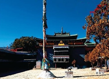 Shalu Monastery is the only monastery in Tibet that combines Tibetan and Chinese styles in its design.