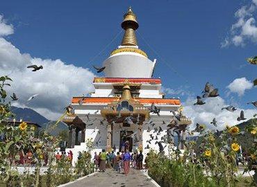 National Memorial Chorten is the landmark of Thimphu.