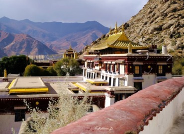 "Sera Monastery, one of the ""great three"" Gelug university monasteries of Tibet."