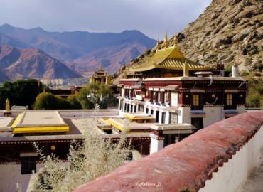 "Sera Monastery, one of the ""great three"" Gelug university monasteries of Tibet."