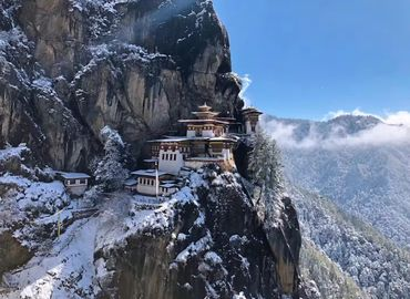 Taktsang Monastery is the most sacred Buddhist temple in Bhutan